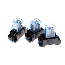 MY4NJ 12v/24v/220v Coil Power Relay DIN Rail Mounted 14 Pin 4PDT with Socket2017
