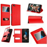 Etui Housse Coque Pochette Interieur Silicone Rouge Huawei P10