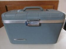 Starflight Vintage Travel Luggage Suitcase Blue with Tray Bag and Mirror