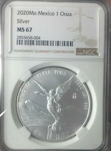 2020 Mexico Silver Libertad .999 1 oz ONZA NGC MS67