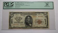 $5 1929 Miami Florida FL National Currency Bank Note Bill!  Ch. #13570 VF PCGS!