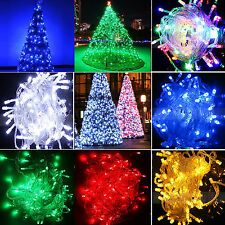 plug in LED Fairy Lights 10M-100M String Lamp Wedding Party Tree New Year Decor