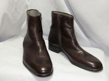 ITALIAN HANDMADE VERO CUOIO MENS BROWN LEATHER BOOTS 9.5 M EXCELLENT CONDITION