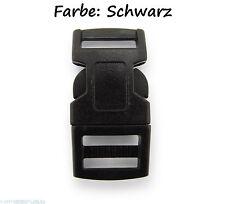 5 x Click Clip Verschluss Schwarz Schnalle 43mm für Armband Rucksack Gürtel