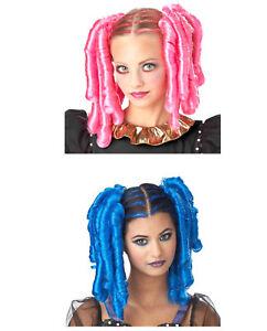 Anime Hair w Hairscara Kawaii Costume Wig Japanese Girl Large Curls Pink Blue