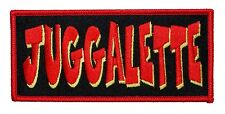 """""""Juggalette"""" Name Tag Icp Insane Clown Posse Girl Gear Iron On Applique Patch"""