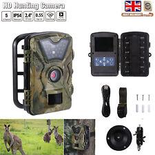 Hunting Trail Camera HD 1080P 5MP IR Wildlife Scouting Cam Night Vision 15M/50FT