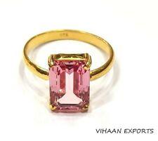925 Sterling Silver Sri Lankan Padparadscha Sapphire Gemstone Handmade Ring Sale