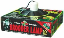 """Zoo Med Deluxe Brooder Lamp For Reptiles 0.5"""" X 0.25"""" X 0.75"""" Black"""