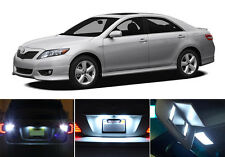 LED for Toyota Camry Xenon White License Plate + Reverse + Vanity ( 8 pieces)