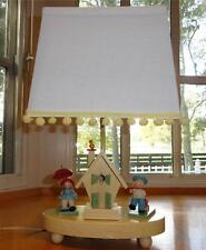 Vtg~Irmi~Nursery~Baby~Chi ld~Toys~Boy~Girl~Wood~Wood en~House~Night Light Lamp