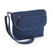 Medium Size Denim Blue Cross Body Shoulder Hand Bag Purse Holiday 25cm X 18cm