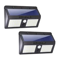 Outdoor Solar Power Motion Sensor Garden Floodlight 40 LED PIR Security Light UK