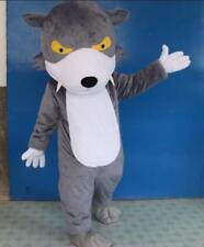Halloween Wolf Gray Mascot Costume Suits Cosplay Adult Birthday Party Game Dress