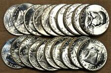 Original BU Roll of 20 1954 Franklin Half Dollars