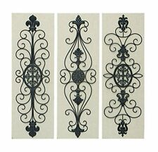 Benzara 66762 Wood Metal Decor/Wall Decor  36 by 12-Inch   3 Assorted