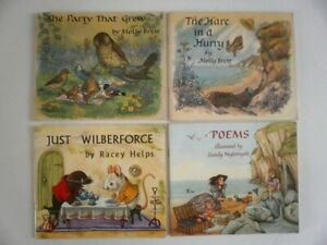 Molly Brett Racey Helps 4 Medici Society paperback books colour illustrated
