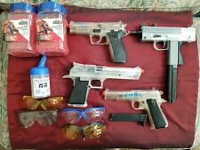 New listing Great Sale Airsoft Gun Bundle, BB Ammo and Loader with Eye Protection!