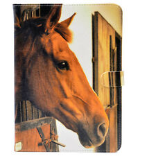 Brown Horse In Stable Leather Flip Stand Case Smart Cover For ipad Mini 1/2/3