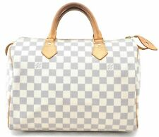 Authentic Louis Vuitton Damier Azur Speedy30 Hand Bag N41533 LV A5465