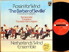 PHILIPS PROMO Rossini for Wind DE WAART NETHERLANDS WIND ENSEMBLE 9500 395 NM-