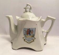 More details for vintage crested china teapot tenterden 2043 on base