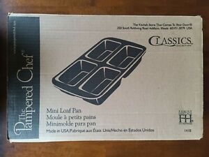 """Pampered Chef Family Heritage 15 x 9"""" Mini Loaf Pan with 4 Wells"""
