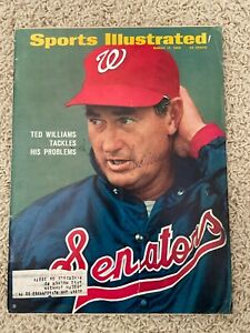 TED WILLIAMS AUTOGRAPHED SPORTS ILLUSTRATED MARCH 1969 Obtained in person