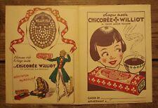 Ancien protège cahier publicitaire chicorée Williot rabat version 2