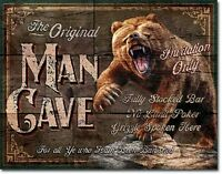 Man Cave - The Original  Metal Tin Sign Wall Art
