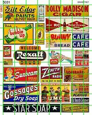 5031 DAVE'S DECALS ADVERTISING SET SODA BREAD CAFE SOAP DRY GOODS BUSINESS SIGNS