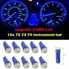 10x Blue T5 Wedge 3-SMD 1206 Instrument Cluster LED Light Bulb 37 73 for Jeep