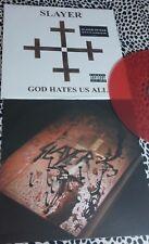 SLAYER LP GOD HATES US ALL RED VINYL 1000 MADE 1ST PRESSING RARE THRASH METAL