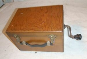 Instructograph Code Machine w Nice Vintage Wood Box