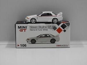 1:64 Nissan Skyline GT-R (R32) Nismo S-Tune RHD (White) True Scale Miniatures MG