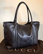Gucci Brown Leather GG Horse Bit Handbag Medium Shoulder Tote Silver Hardware