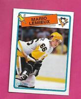 1988-89 OPC # 1 PENGUINS MARIO LEMIEUX   NRMT+ CARD   (INV# D6773)