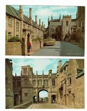 POST CARDS COLOUR PHOTOS OF THECHAIN GATE, AND VICARS` CLOSE, WELLS