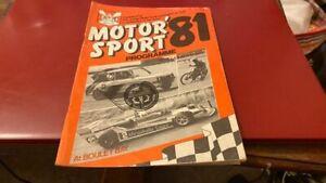 JERSEY MOTOR SPORT--SAND RACING---PROGRAMME--19TH SEPTEMBER 1981