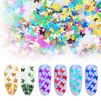 Nail Glitter Sequins Set Holographic Laser Butterfly Flakes Nail Art 3D Decor