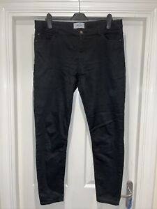 Ladies NEW LOOK Black Super Skinny Jeans Size 16 L32