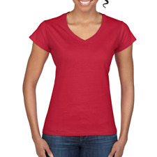 Gildan 64V00L - Ladies Fitted V-Neck T-Shirt