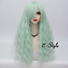 70cm Long Curly Lolita Lady Vogue Light Green Party Cosplay Wig+Cap