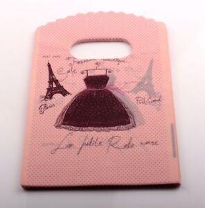100pcs 9X15cm pink Paris Eiffel Tower Plastic Bags Jewelry Gift Bag