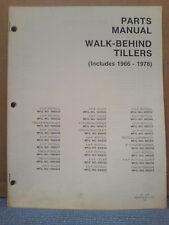 Simplicity 1966 Thru 1978 Walk Behind Tiller Parts Manual Tp-634 Original!