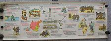 Wandbild Geschichtsfries Reichskanzler Bismarck 139x50c vintage wall chart 1965