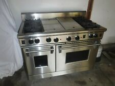 """Wolf 48"""" R484Cg Professional Gas Range 4 Burner Charbroil + Griddle Stainless"""