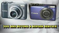 CANON A2000 OR A2200 DIGITAL CAMERA REPAIR SERVICE WITH A 60 DAY WARRANTY