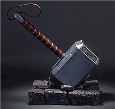 US 1:1 Full Solid Avengers Thor Hammer Replica Prop Mjolnir Resin Base Cosplay
