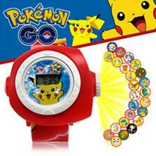 HOT NEW 1 pcs Pokemon Pikachu Kid Digital Watch PROJECTION Projector 20 images